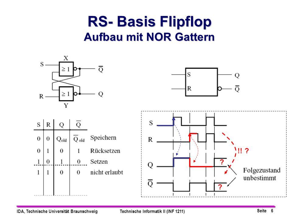 RS- Basis Flipflop Aufbau mit NOR Gattern !!