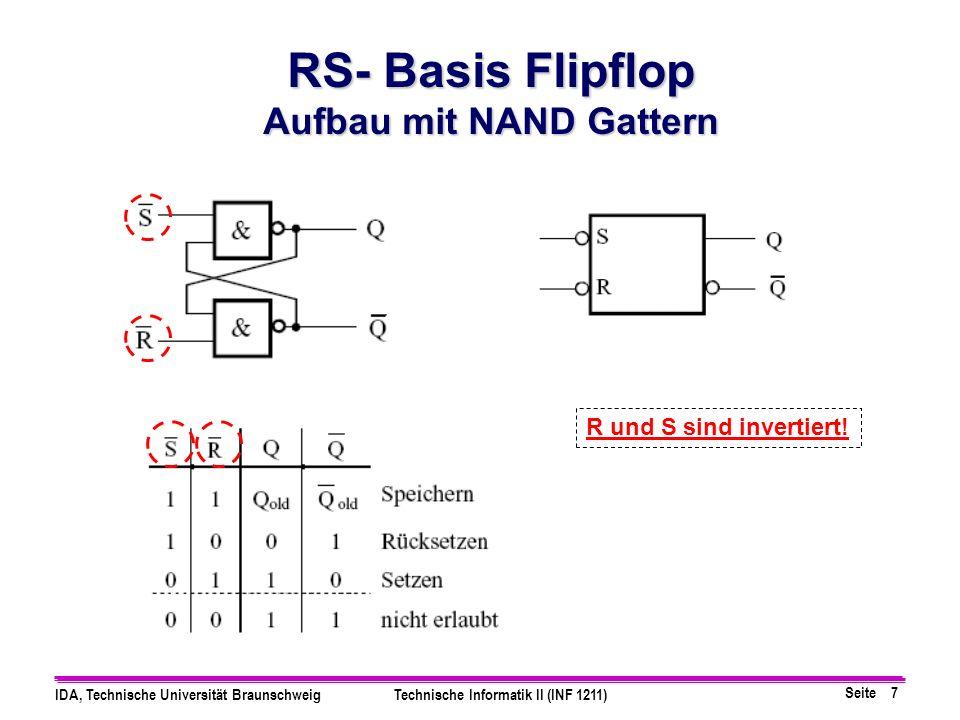 Aufbau mit NAND Gattern