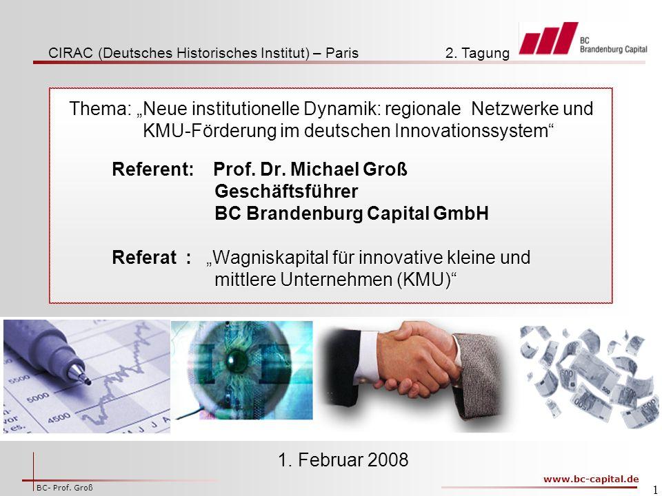 """Thema: """"Neue institutionelle Dynamik: regionale Netzwerke und"""