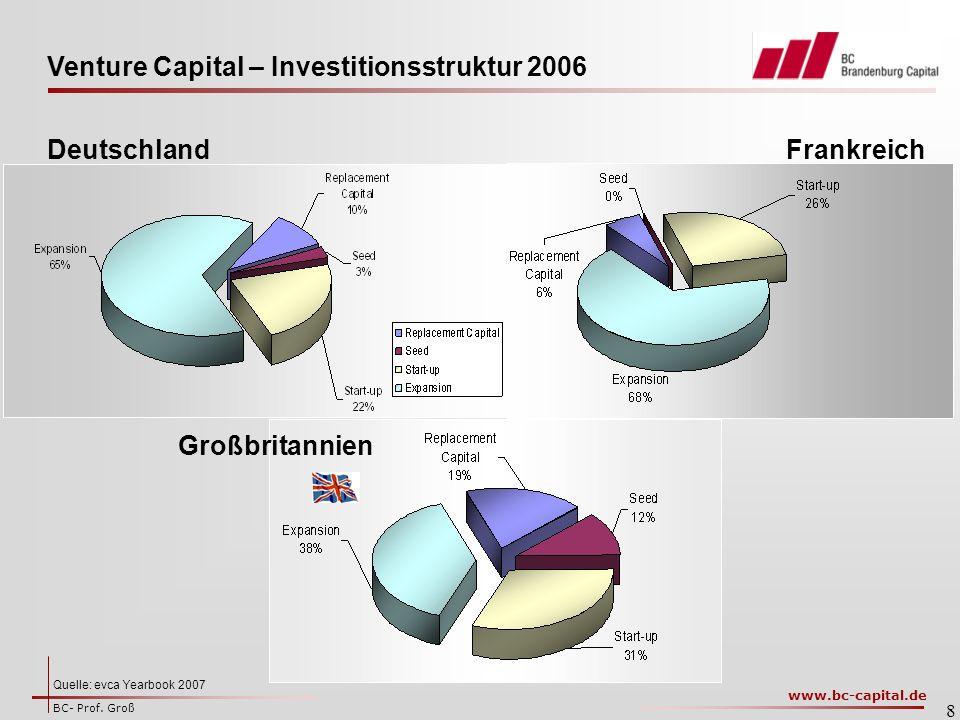 Venture Capital – Investitionsstruktur 2006