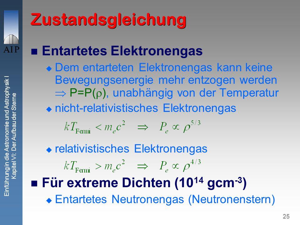 Zustandsgleichung Entartetes Elektronengas