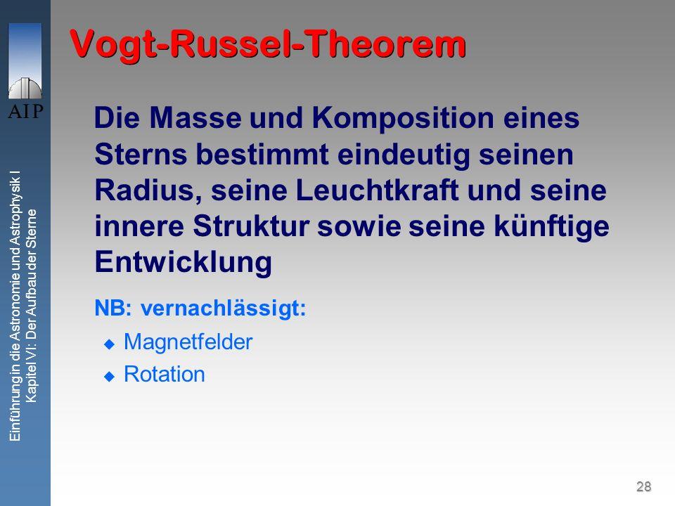 Vogt-Russel-Theorem