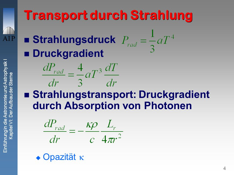 Transport durch Strahlung