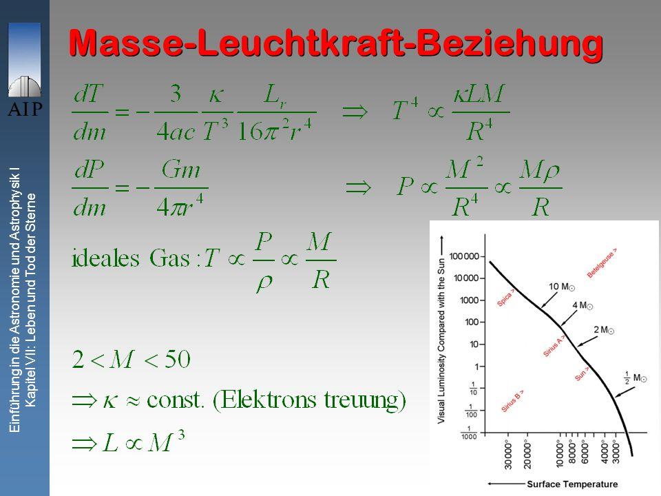 Masse-Leuchtkraft-Beziehung