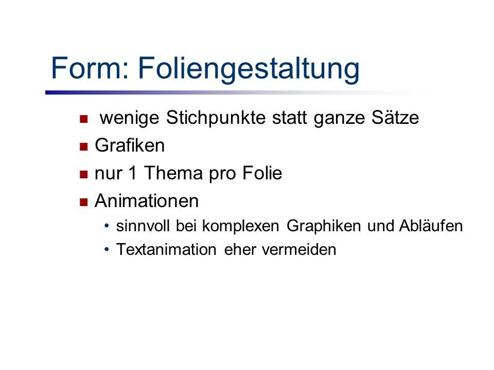 Form: Foliengestaltung