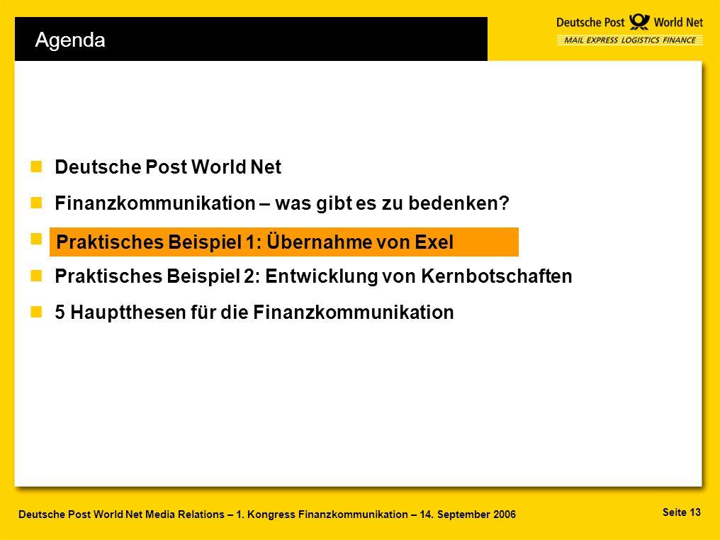 Agenda Deutsche Post World Net