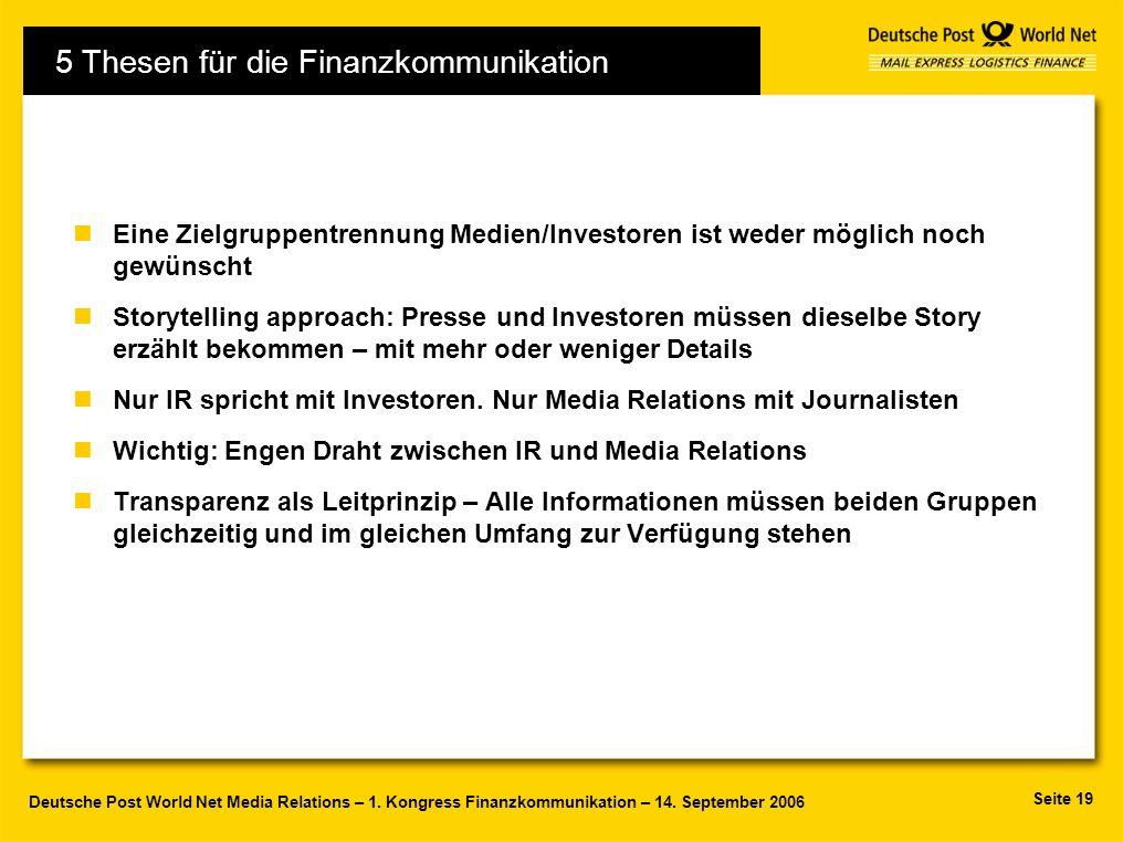 5 Thesen für die Finanzkommunikation