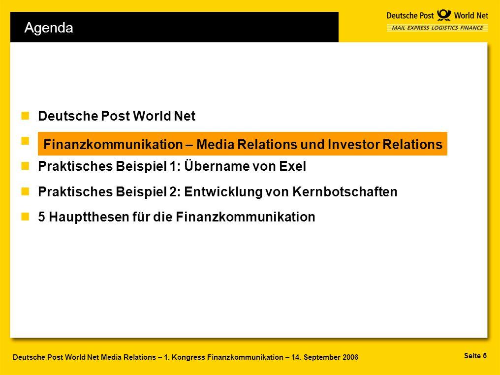 Agenda Deutsche Post World Net F