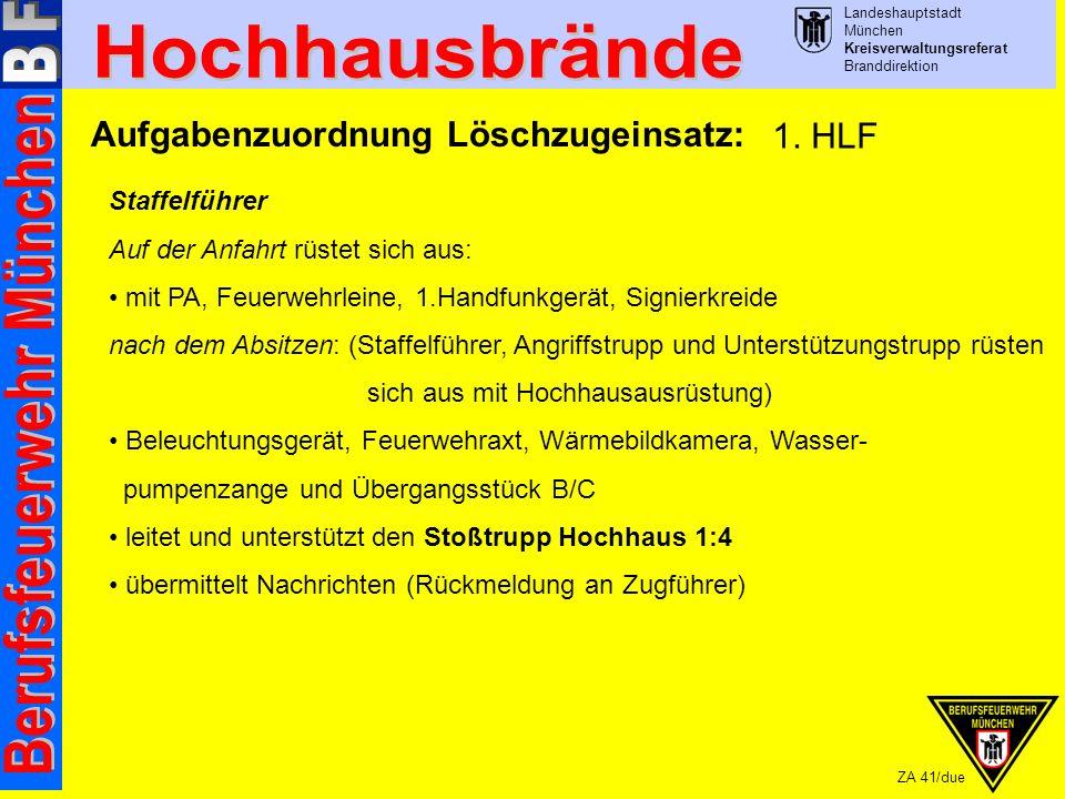 Aufgabenzuordnung Löschzugeinsatz: 1. HLF
