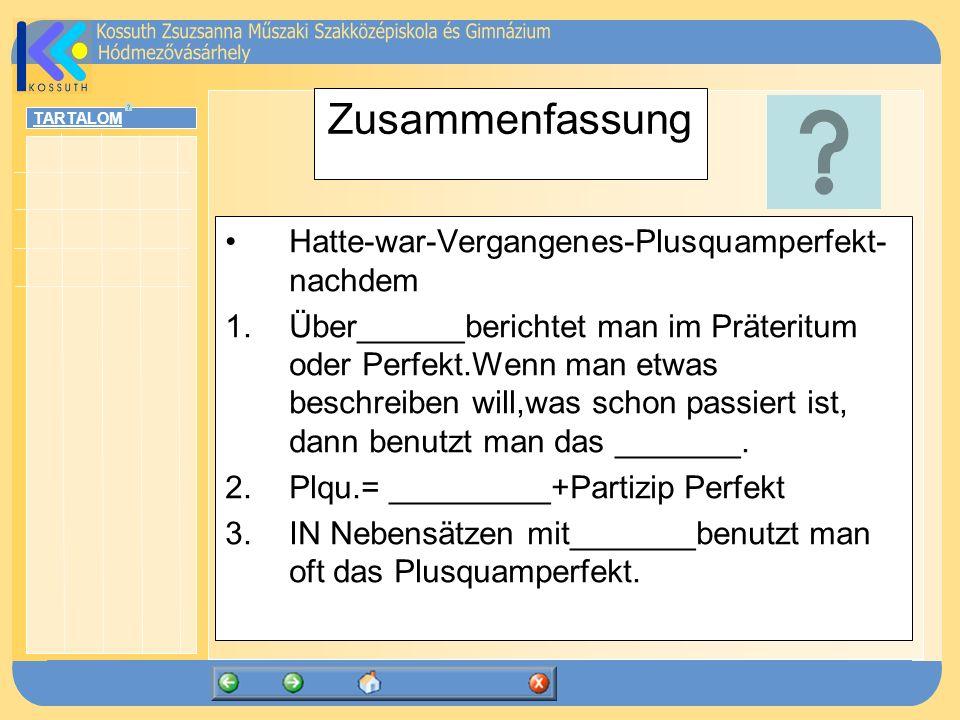 Zusammenfassung Hatte-war-Vergangenes-Plusquamperfekt-nachdem