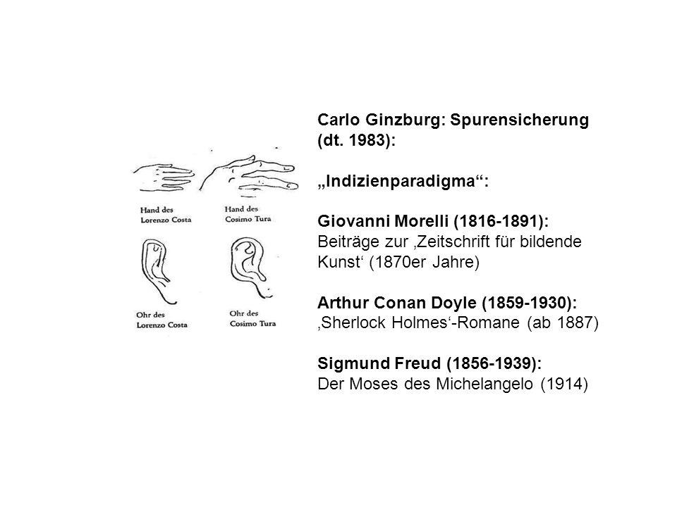 Carlo Ginzburg: Spurensicherung (dt. 1983):