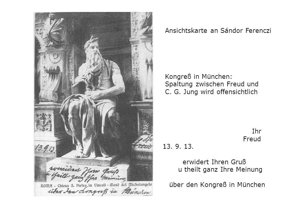 Ansichtskarte an Sándor Ferenczi