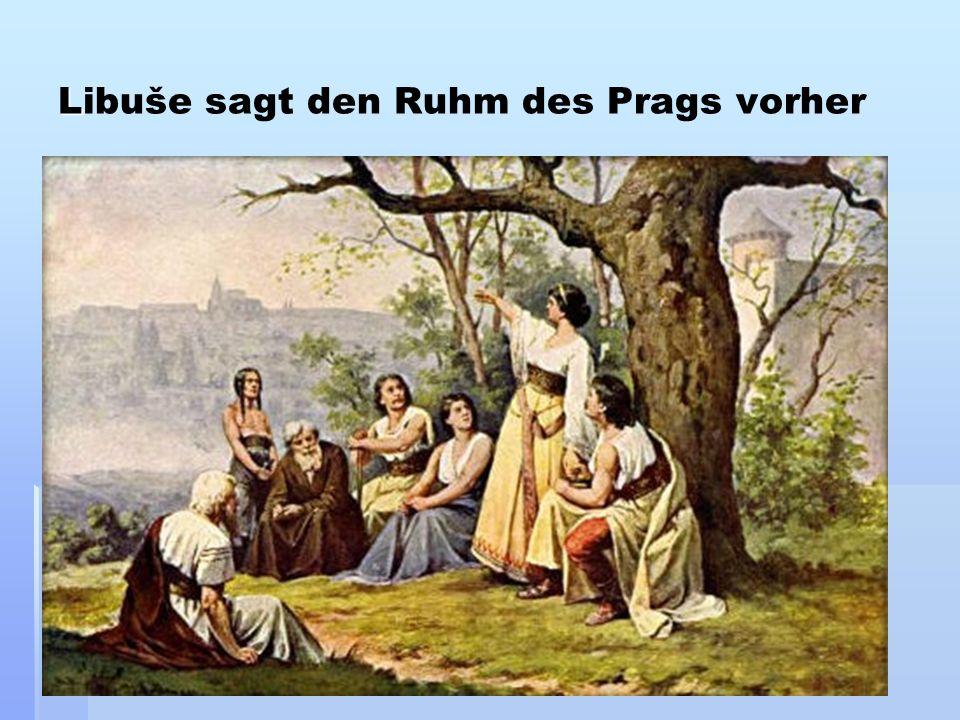 Libuše sagt den Ruhm des Prags vorher