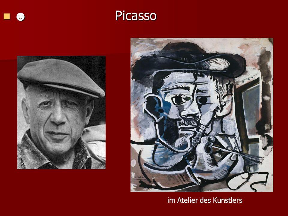☻ Picasso im Atelier des Künstlers