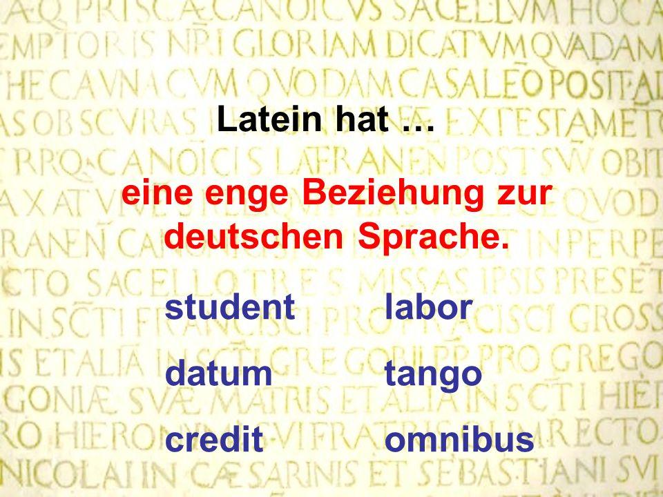 eine enge Beziehung zur deutschen Sprache.