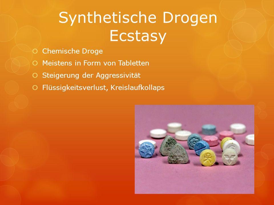 Synthetische Drogen Ecstasy