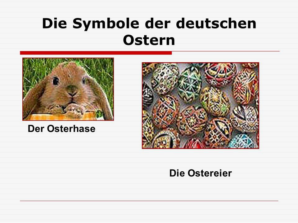 Die Symbole der deutschen Ostern