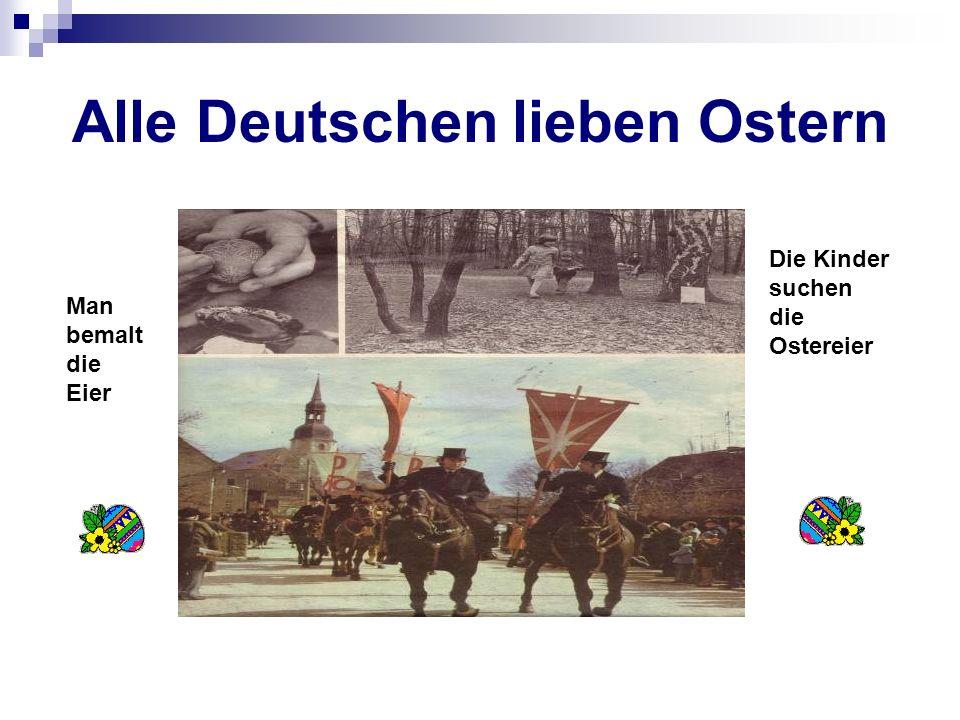 Alle Deutschen lieben Ostern
