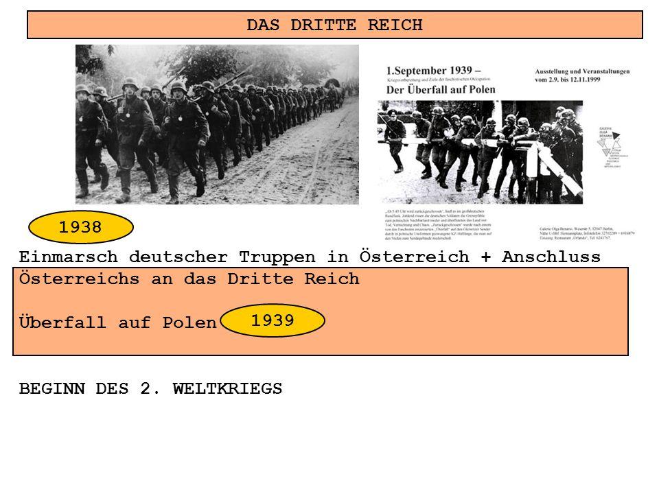 DAS DRITTE REICH 1938. Einmarsch deutscher Truppen in Österreich + Anschluss. Österreichs an das Dritte Reich.