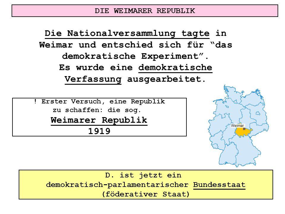 Es wurde eine demokratische Verfassung ausgearbeitet.