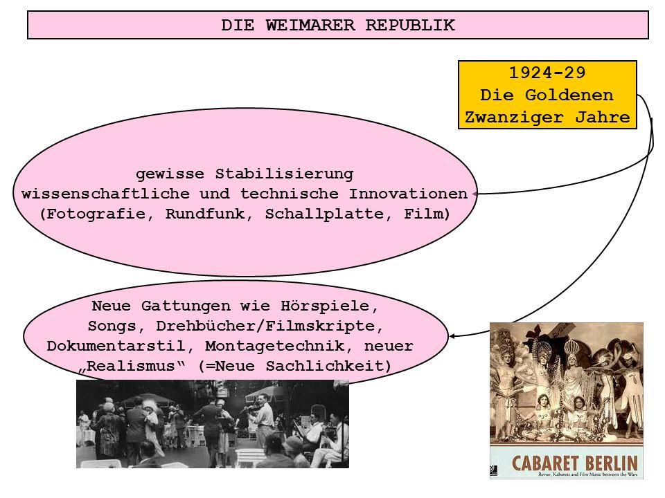 DIE WEIMARER REPUBLIK 1924-29 Die Goldenen Zwanziger Jahre