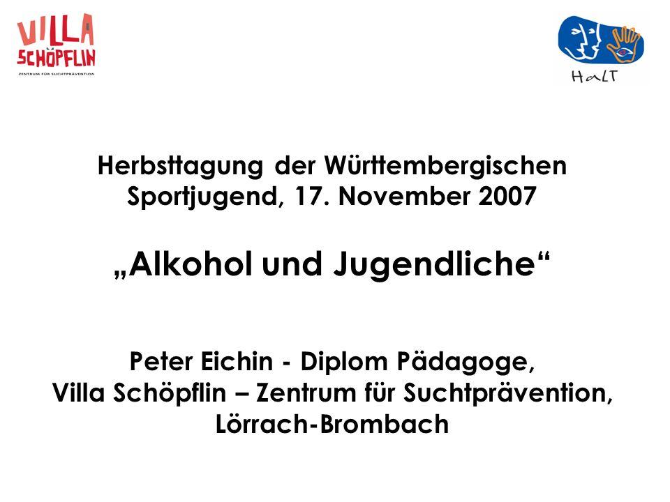 """""""Alkohol und Jugendliche"""