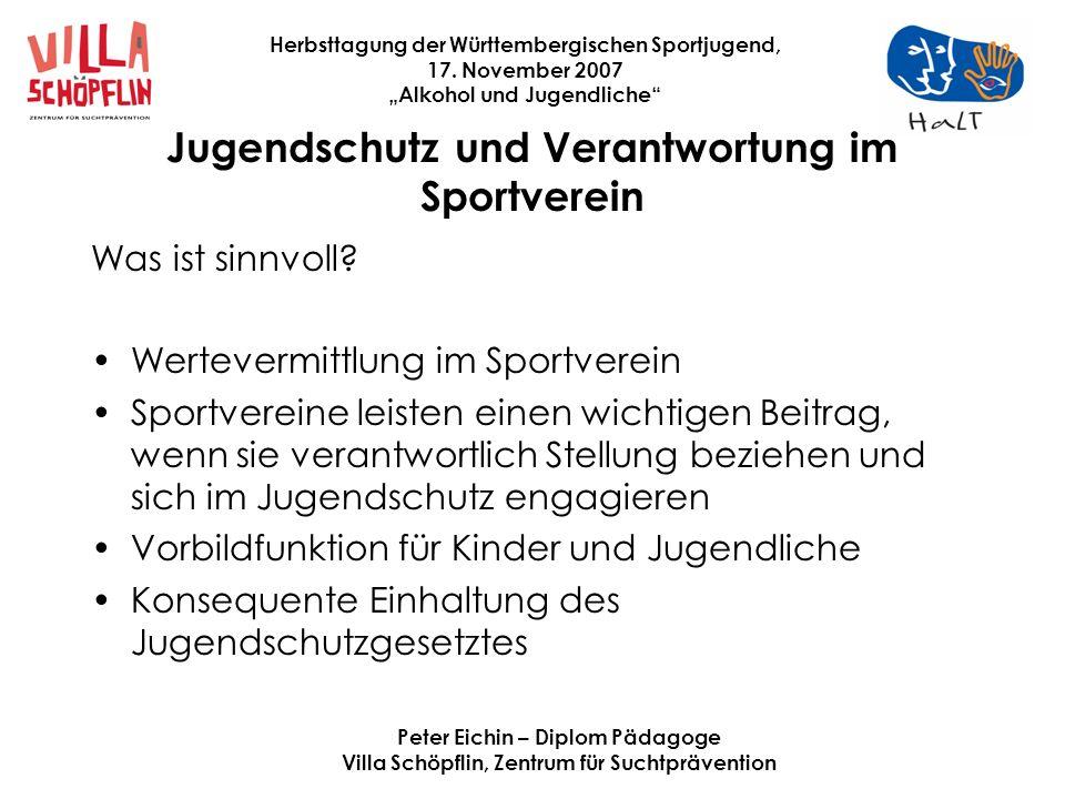 Jugendschutz und Verantwortung im Sportverein