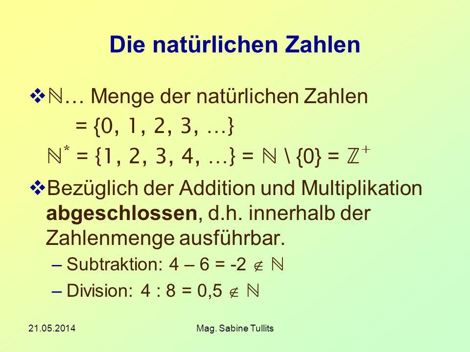Die natürlichen Zahlen