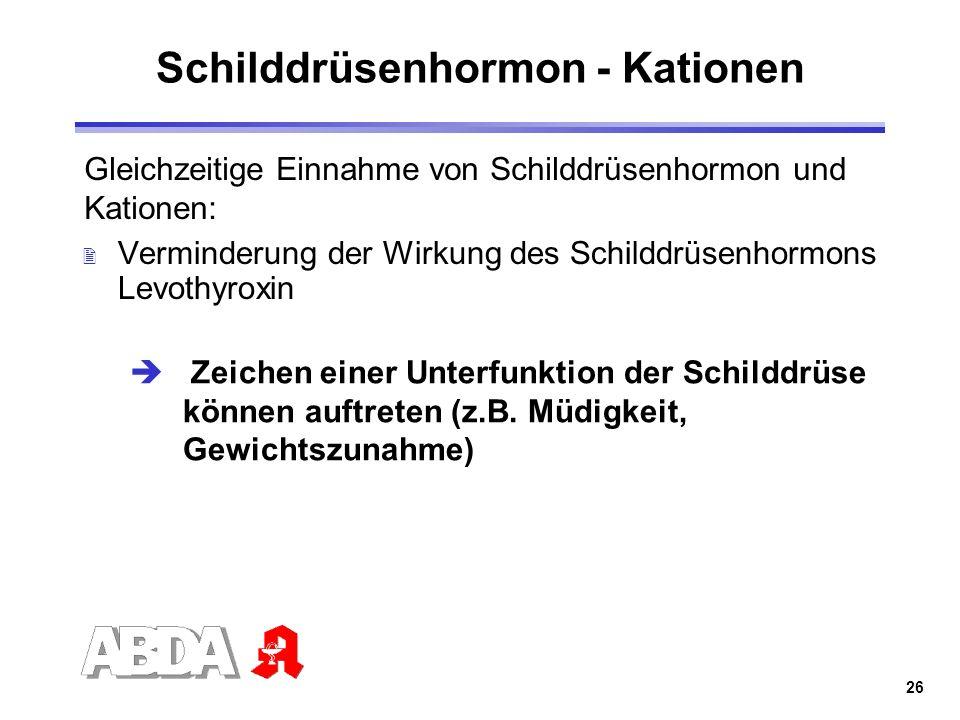 Schilddrüsenhormon - Kationen