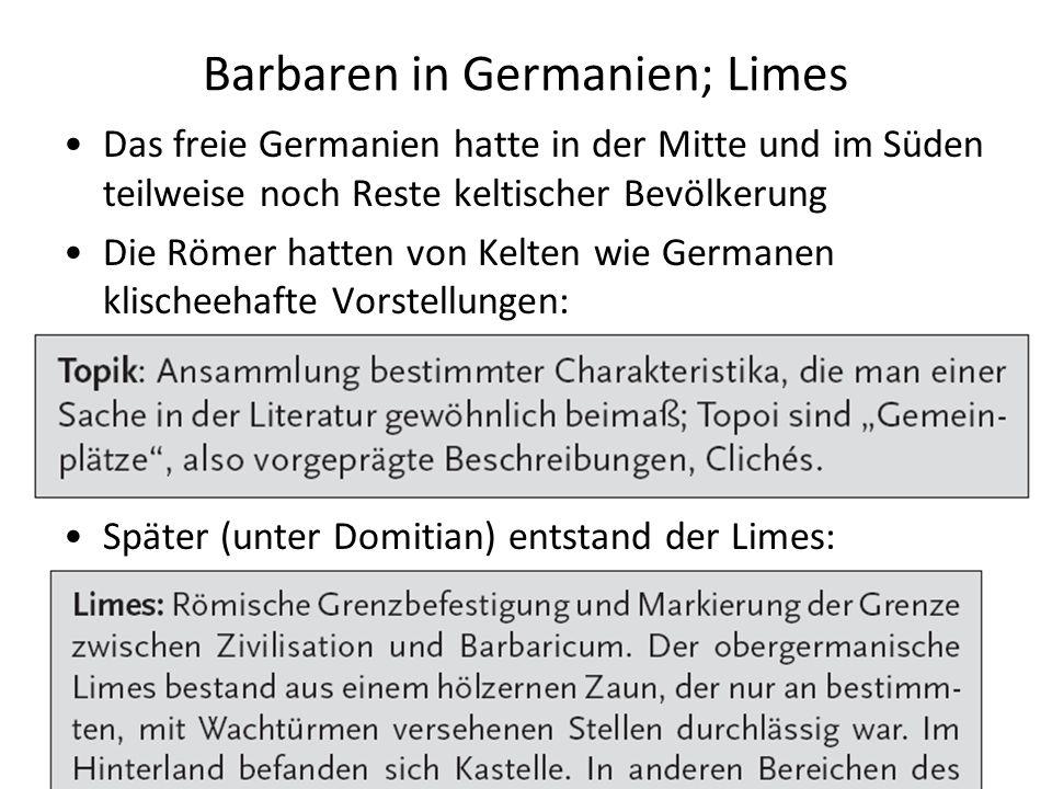Barbaren in Germanien; Limes