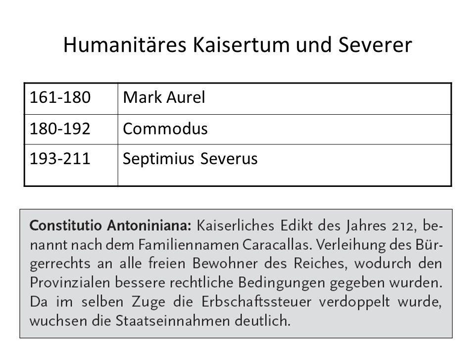 Humanitäres Kaisertum und Severer