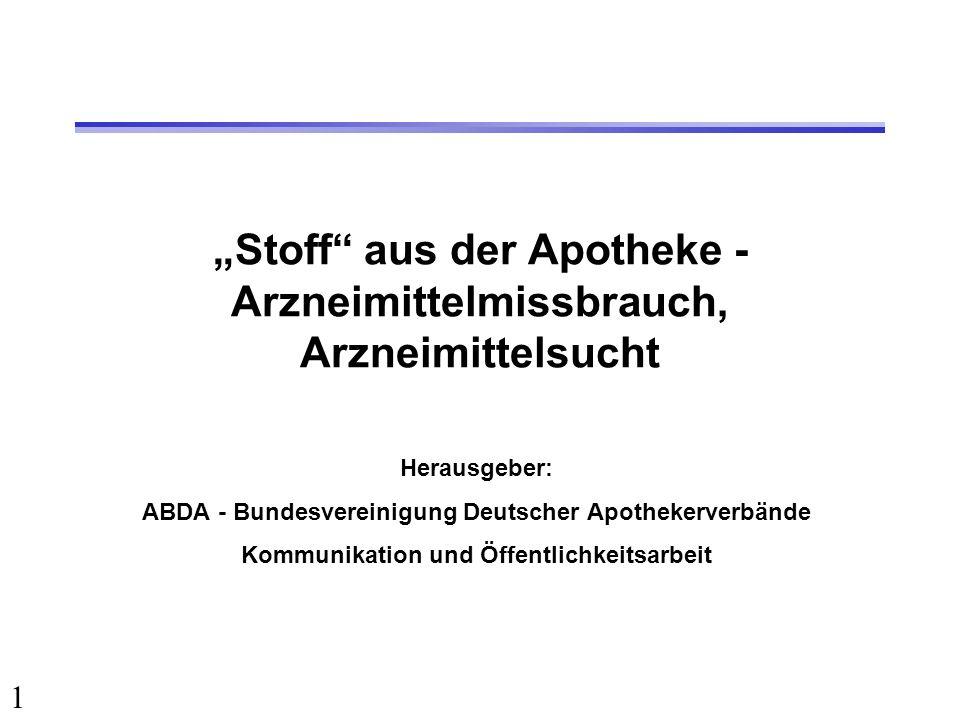 """""""Stoff aus der Apotheke - Arzneimittelmissbrauch, Arzneimittelsucht"""