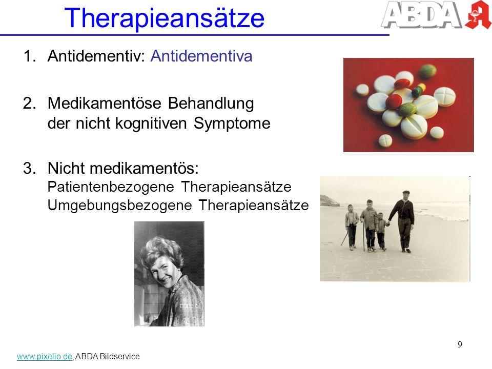 Therapieansätze Antidementiv: Antidementiva
