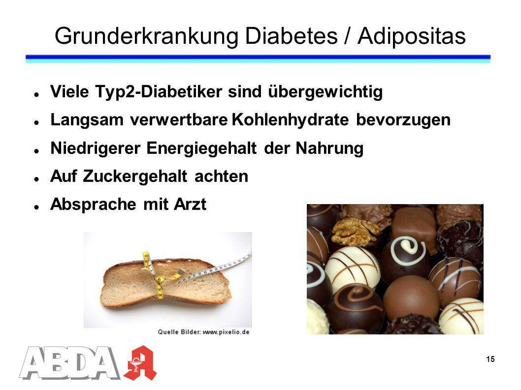 Grunderkrankung Diabetes / Adipositas