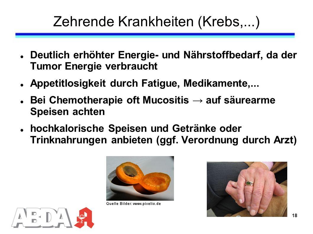 Zehrende Krankheiten (Krebs,...)