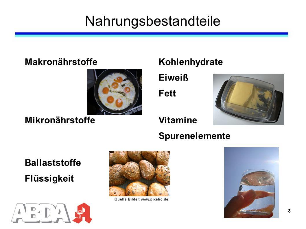 Nahrungsbestandteile