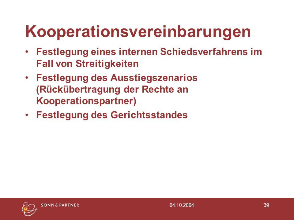Kooperationsvereinbarungen