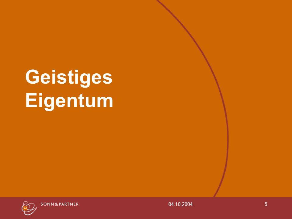 Geistiges Eigentum 04.10.2004