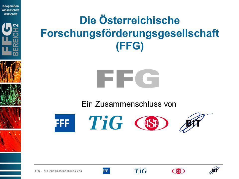 Die Österreichische Forschungsförderungsgesellschaft (FFG)