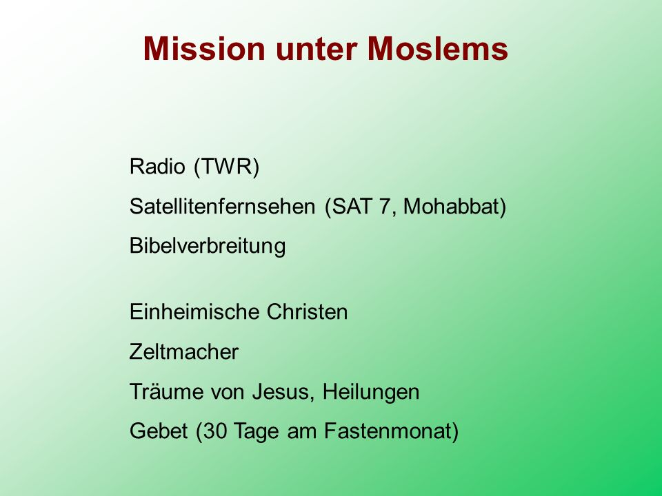 Mission unter Moslems Radio (TWR)