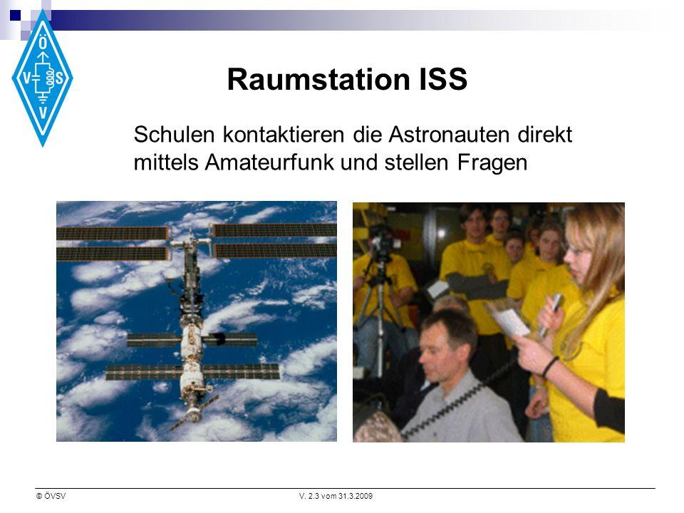 Raumstation ISS Schulen kontaktieren die Astronauten direkt mittels Amateurfunk und stellen Fragen