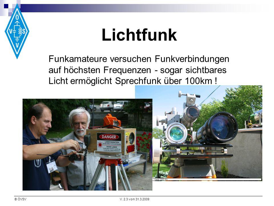 Lichtfunk Funkamateure versuchen Funkverbindungen auf höchsten Frequenzen - sogar sichtbares Licht ermöglicht Sprechfunk über 100km !