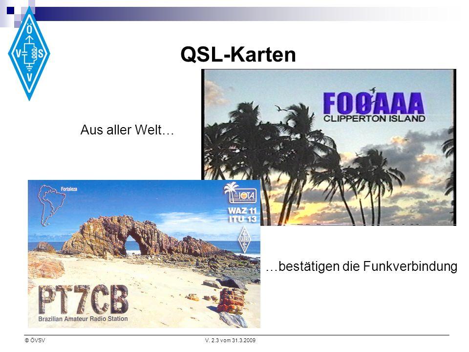 QSL-Karten Aus aller Welt… …bestätigen die Funkverbindung
