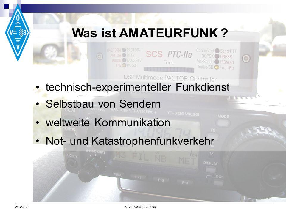 Was ist AMATEURFUNK technisch-experimenteller Funkdienst
