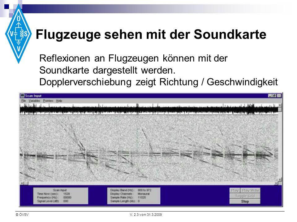 Flugzeuge sehen mit der Soundkarte