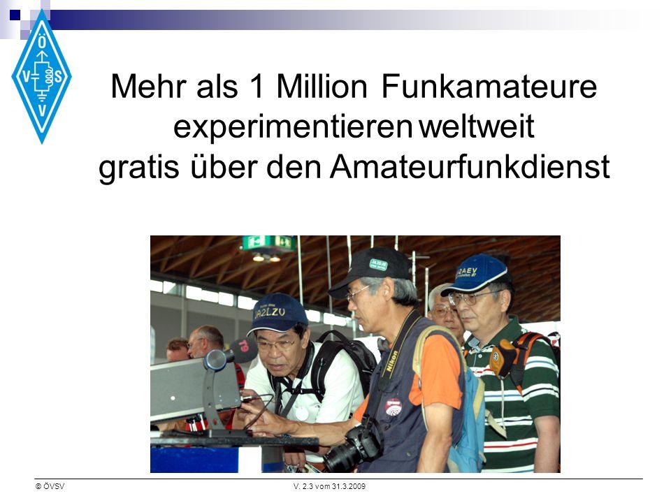 Mehr als 1 Million Funkamateure experimentieren weltweit