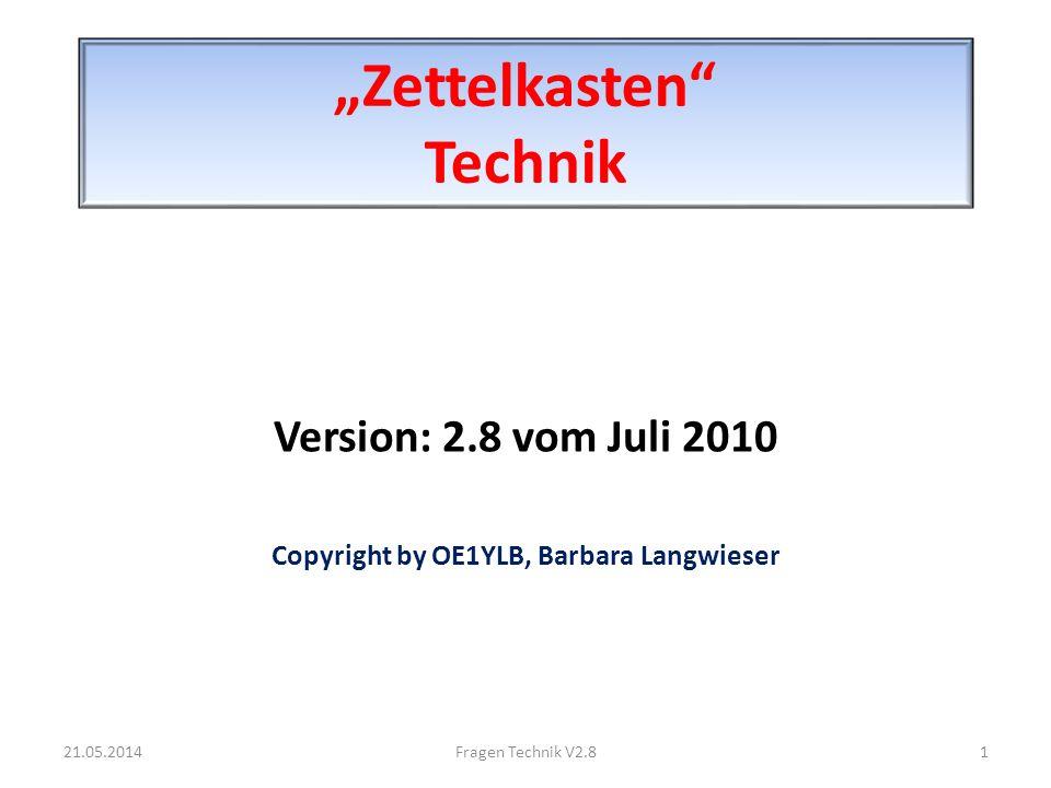 """Zettelkasten Technik"
