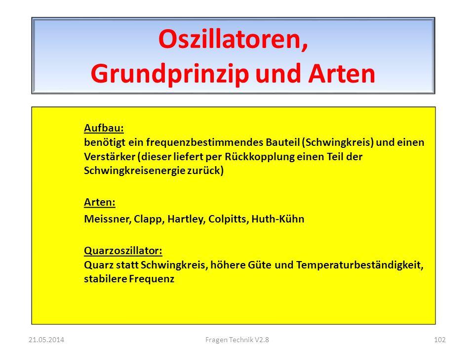 Oszillatoren, Grundprinzip und Arten
