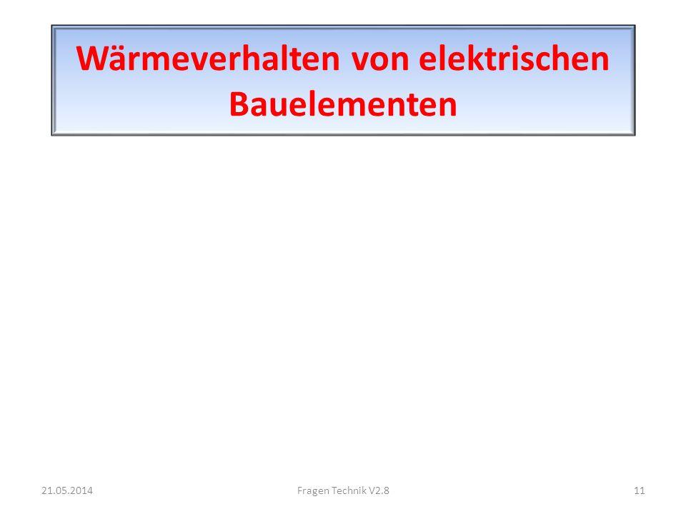 Wärmeverhalten von elektrischen Bauelementen