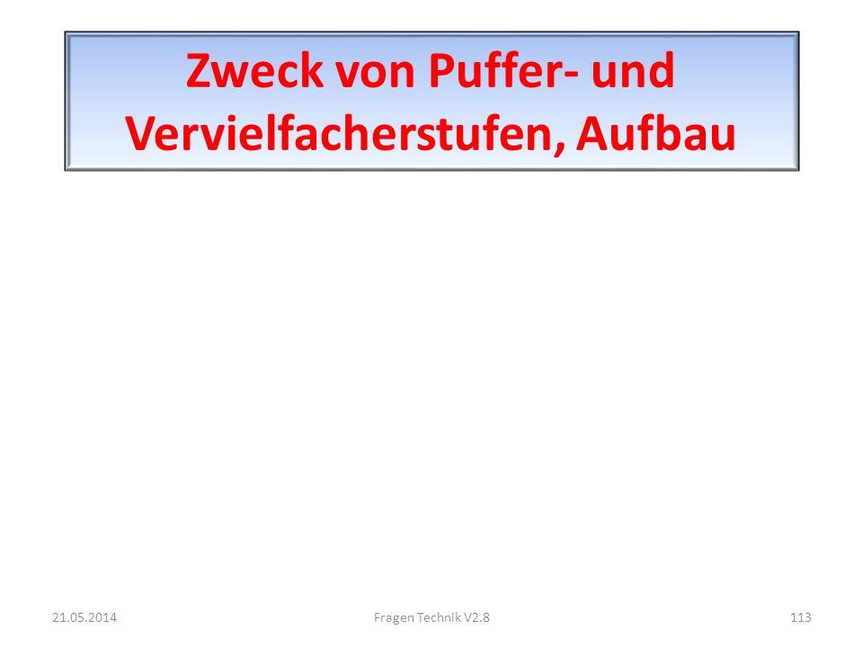 Zweck von Puffer- und Vervielfacherstufen, Aufbau